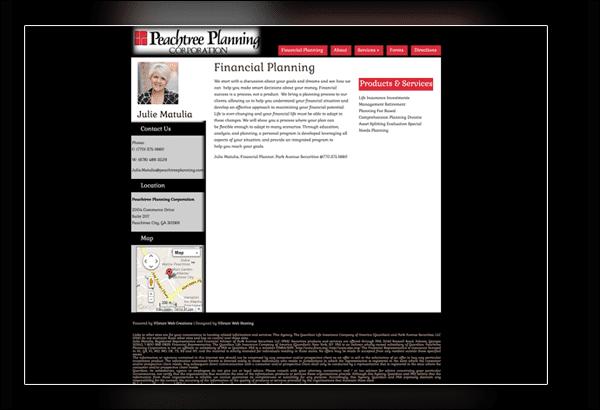 Peachtree Planning Corporation Peachtree City Website Designer