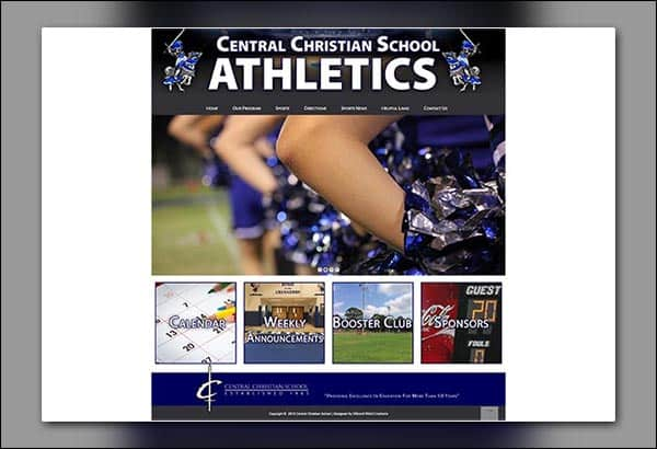 Central Christian School Athletics Website Design By Vibrant Web Creations