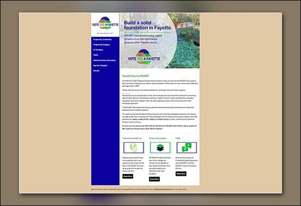 Fayette County SPOST GA website by Vibrant Web Creations