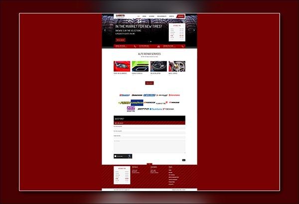 Larrys new & Used Tires Jonesboro Website Designed by Vibrant Web Creations
