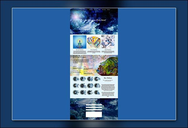 Psychic Website Designed By Vibrant Web Creations