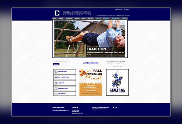 Central Christian School Website Design By Vibrant Web Creations